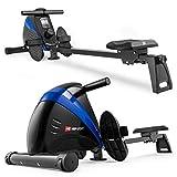 Hop-Sport Rudergerät Boost Ruderzugmaschine mit Computer & Magnetbremssystem blau