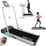 Bluefin Fitness Task 2.0 2-in-1 Laufband, Klappbar | Zuhause Fitness Studio Büro Laufband | 8 Km/h...