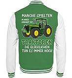 ALBASPIRIT Traktor Landwirt Kindheit Witziger Spruch Landwirtschaft Trecker Bauer Geschenk - College...