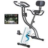 skandika Foldaway X-2000 Fitnessbike zusammenklappbar mit Bluetooth, Tablet Halterung, Rückenlehne,...