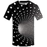 Tyoby Herren T-Shirt 3D Druckten Sommer-beiläufige Kurze Hülsen-T-Shirts T-Stücke Mode Schnitt...