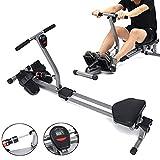 QINYUP Indoor Faltbare Rudergerät mit 12 einstellbarem Widerstand Home Gym Rowe Workout...