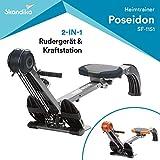 skandika Rudergert Regatta Multi Gym Poseidon, Gerusch-/Wartungsarmes Bremssystem ber Polyfiber...