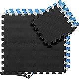 Schutzmatten Set Puzzlematte Bodenschutz Matte - 18 Puzzle Bodenschutzmatten Unterlegmatte |...